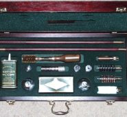 086 NEW LONDON Mahogany Gun Cleaning Cased Set